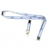 Kansas City Royals Ultra Slim Lanyard, Grey with Blue Trim